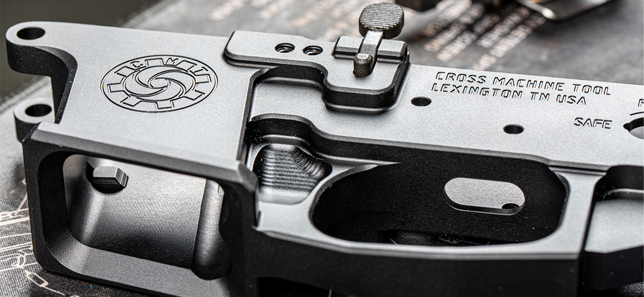 Cross Machine Tool CMT UHP9 9mm AR-15 Lower Receiver with Glock Compatible Magwell