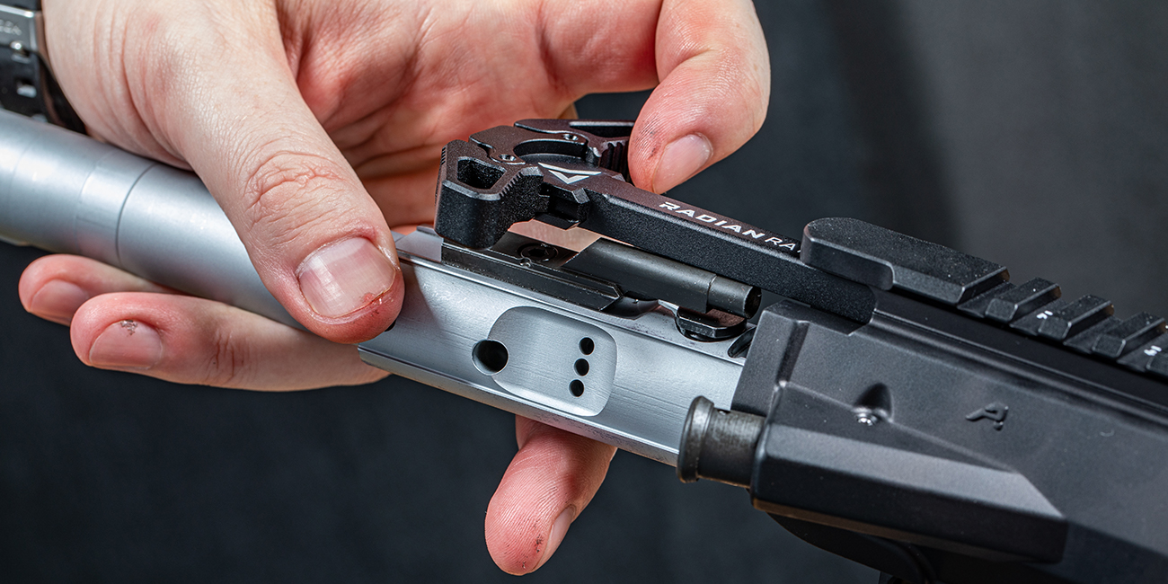 Installing LMT .308 Enhanced Bolt Carrier Group with Radian Raptor SD Ambi Vented AR10 Charging Handle into Aero Precision M5