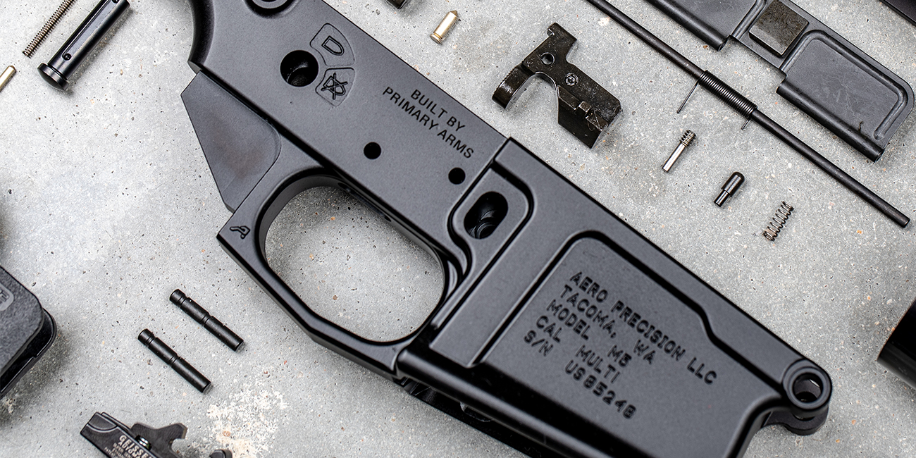 Aero Precision M5 Lower Reciever with Aero Precision M5 Lower Parts Kit ready for Installation on AR308