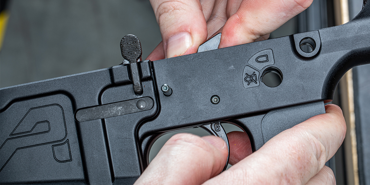 Installing Geissele Automatics Super Semi-Automatic Enhanced (SSA-E) trigger into Aero Precision M5 Lower Receiver