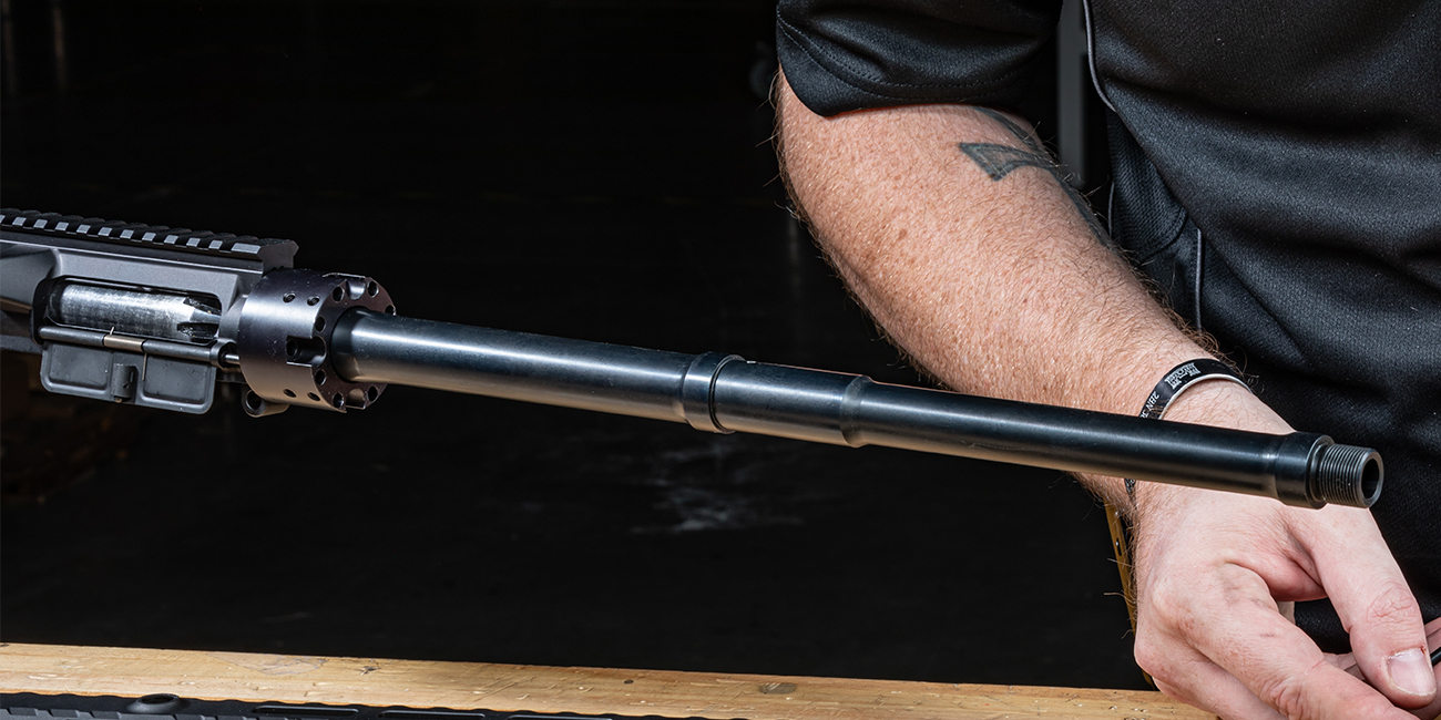 Primary Arms gunsmith installs a Faxon Firearms .458 SOCOM Gunner Barrel on Big Bore AR
