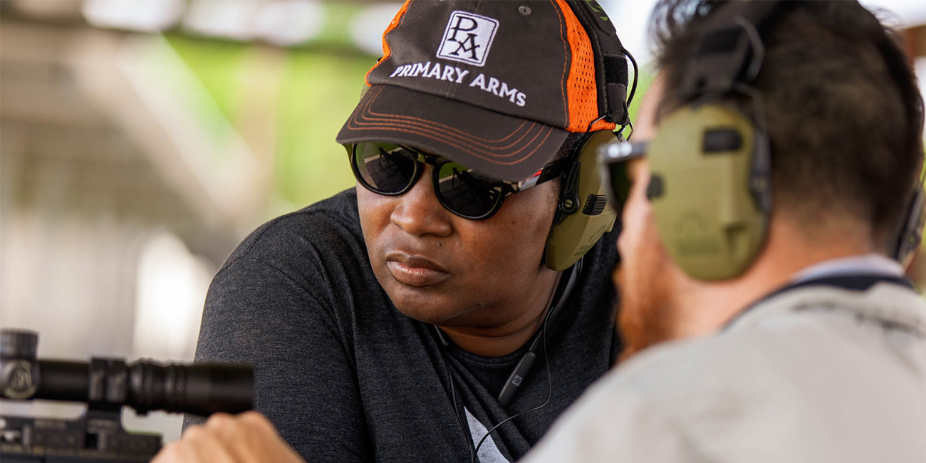 Dea and Nick from Primary Arms discuss the function and safety rules of handling an AR-15 while at an outdoor shooting range.