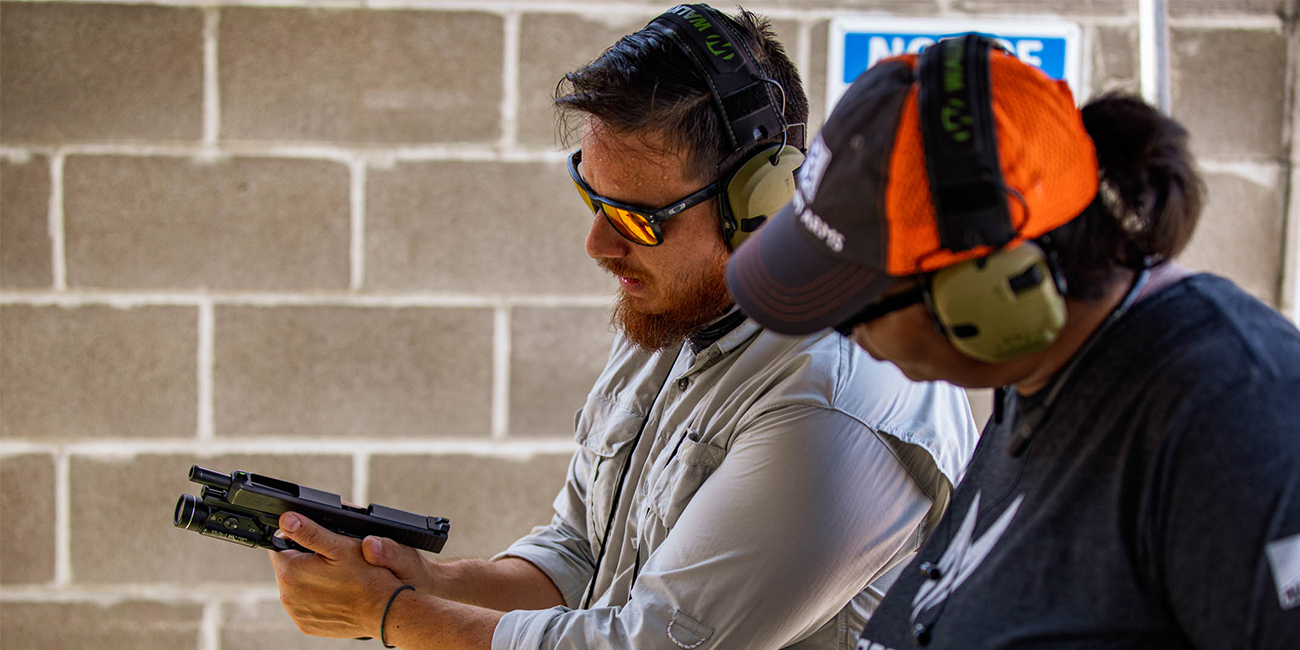 Nick from Primary Arms demonstrates safe handling and function of a Glock pistol.