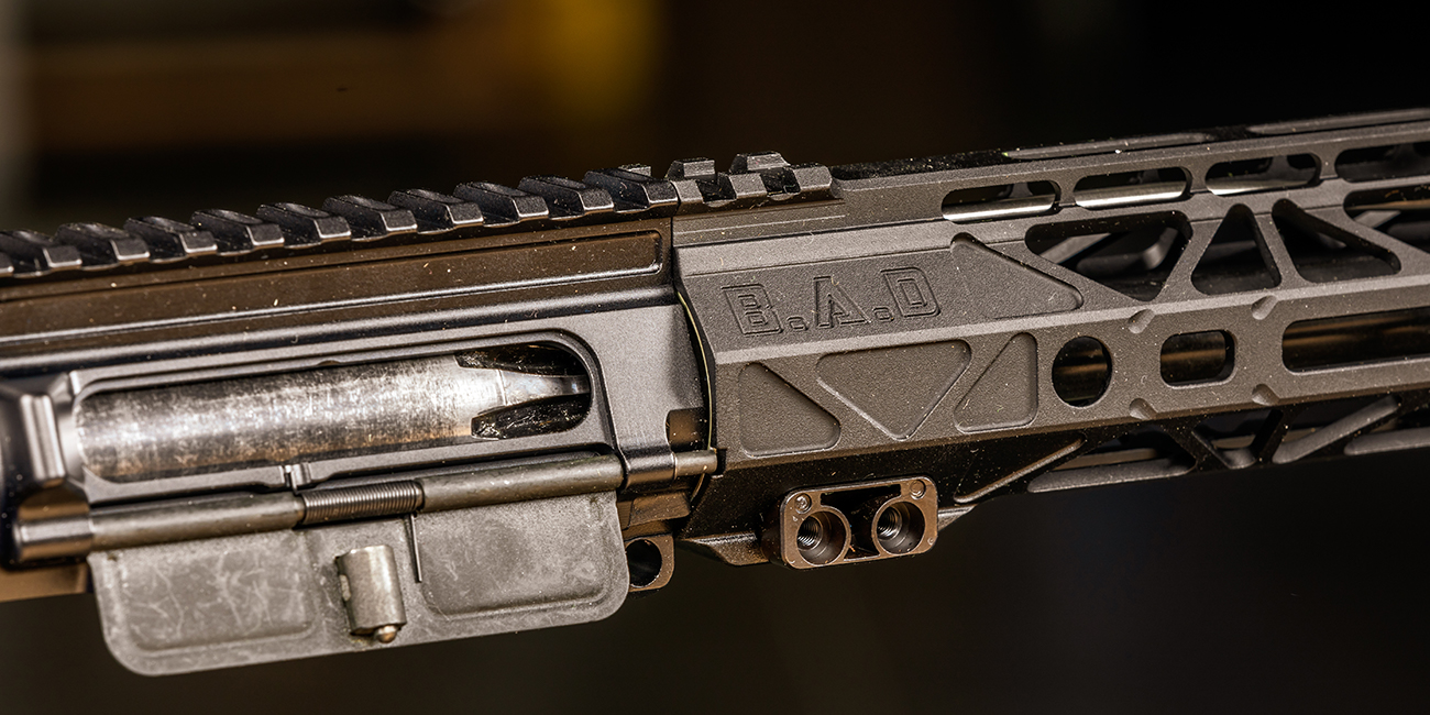 Battle Arms Development RIGIDRAIL being attached to an ar15 upper receiver