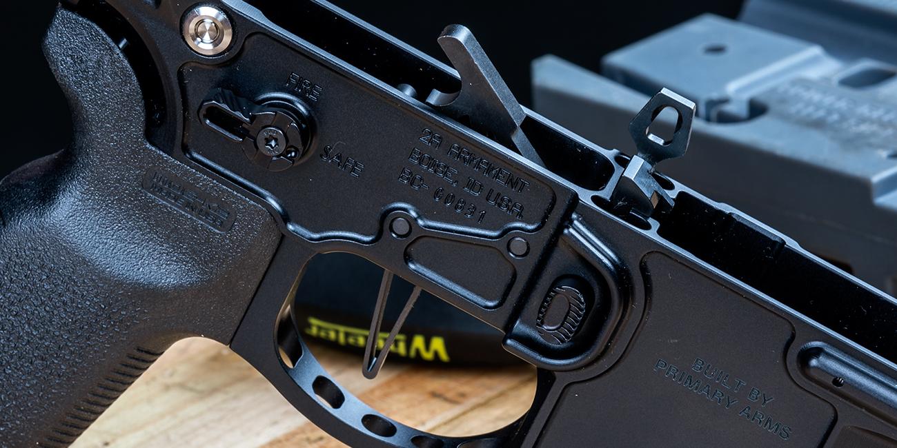 Elftmann AR15 3 Gun Straight MIL-SPEC Trigger in lightweight lower receiver