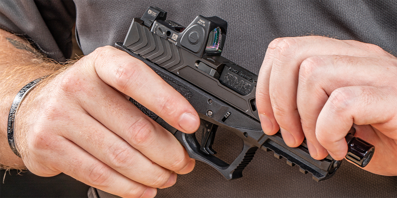 Close look at EDC9 pistol for Primary Arms October Glock Giveaway
