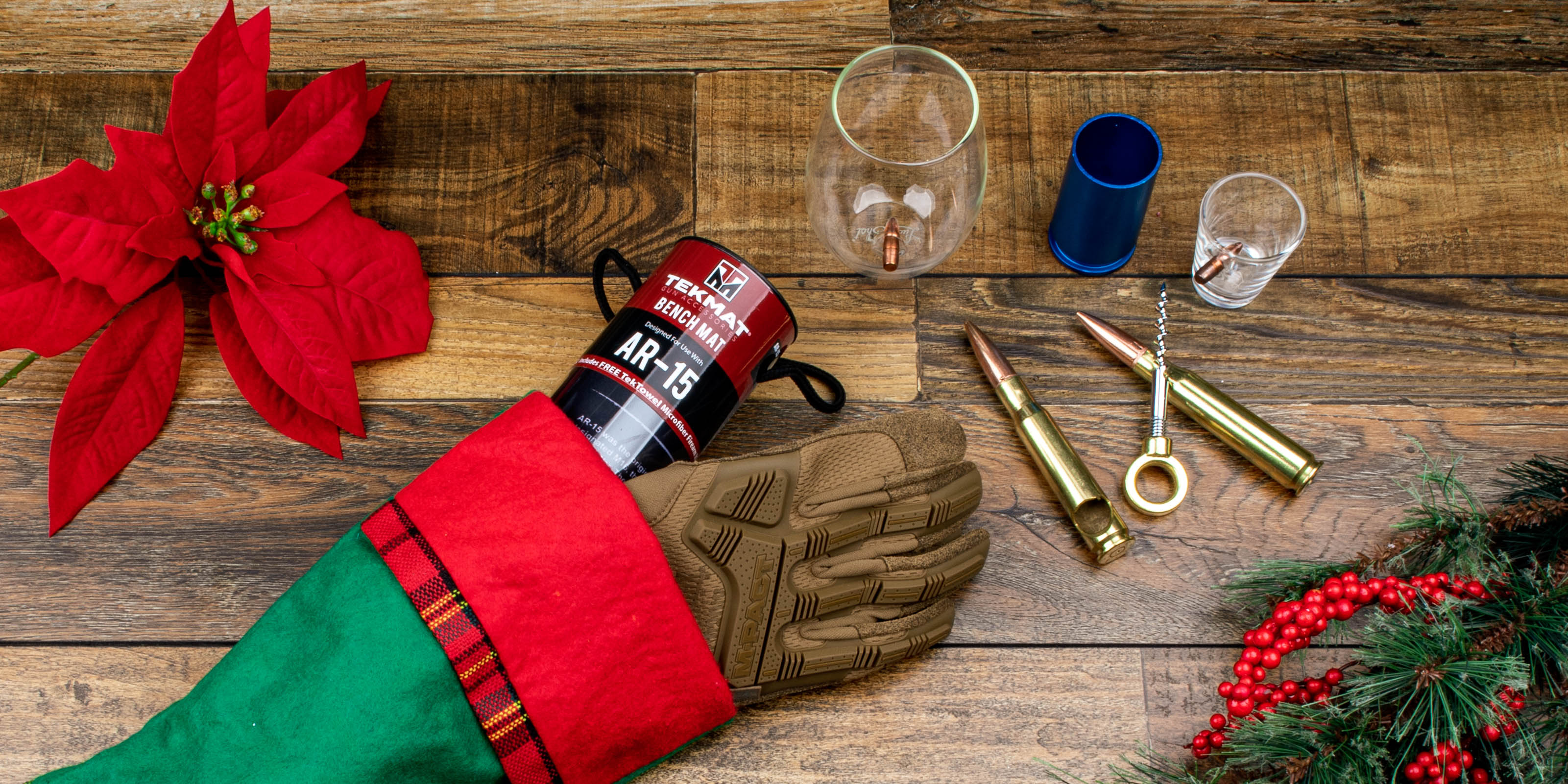 Primary Arms gifts under $20 from Lucky Shot USA, TekMat, and Mechanix.