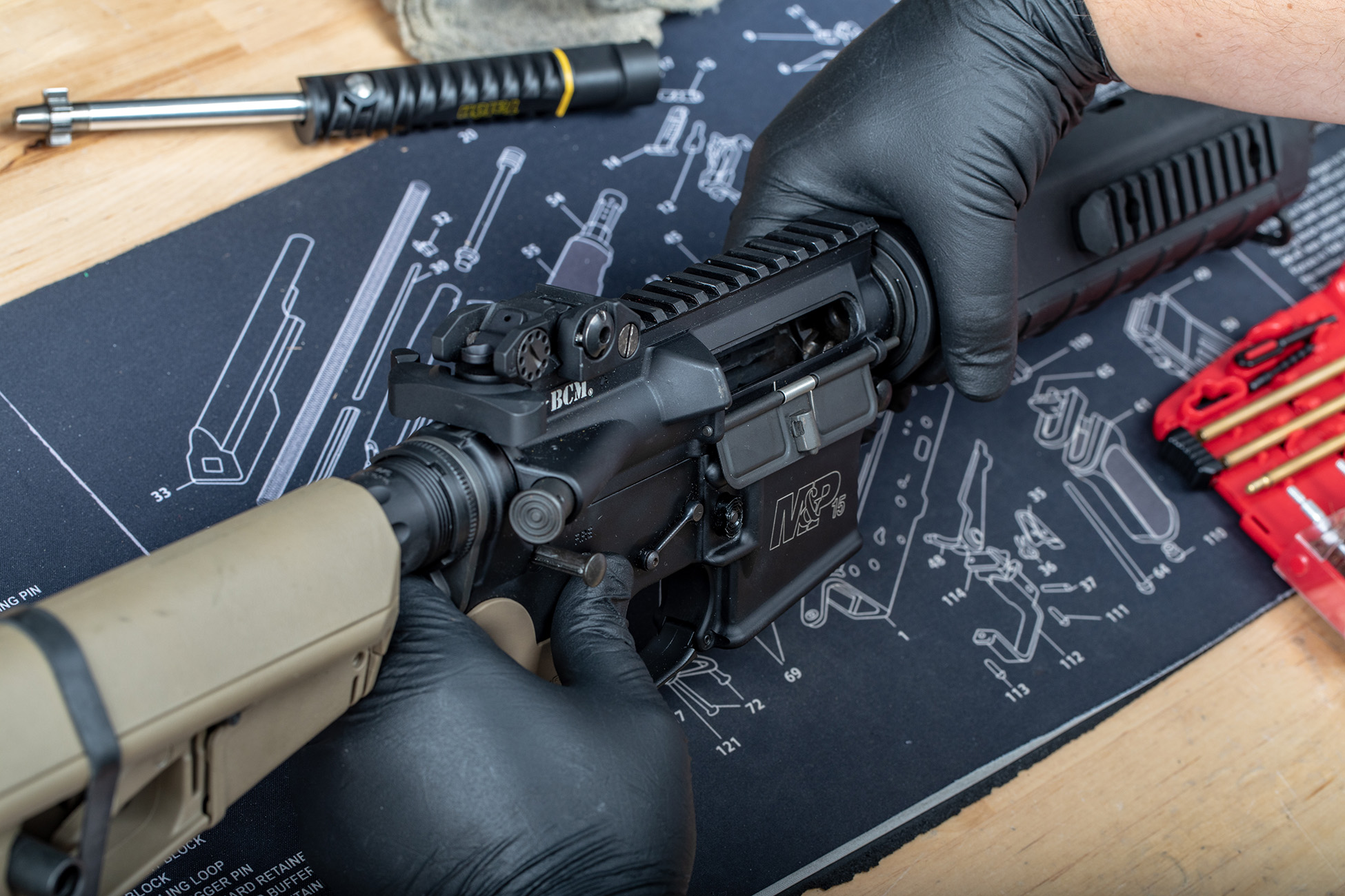charging handle for ar15 in a BCM rifle