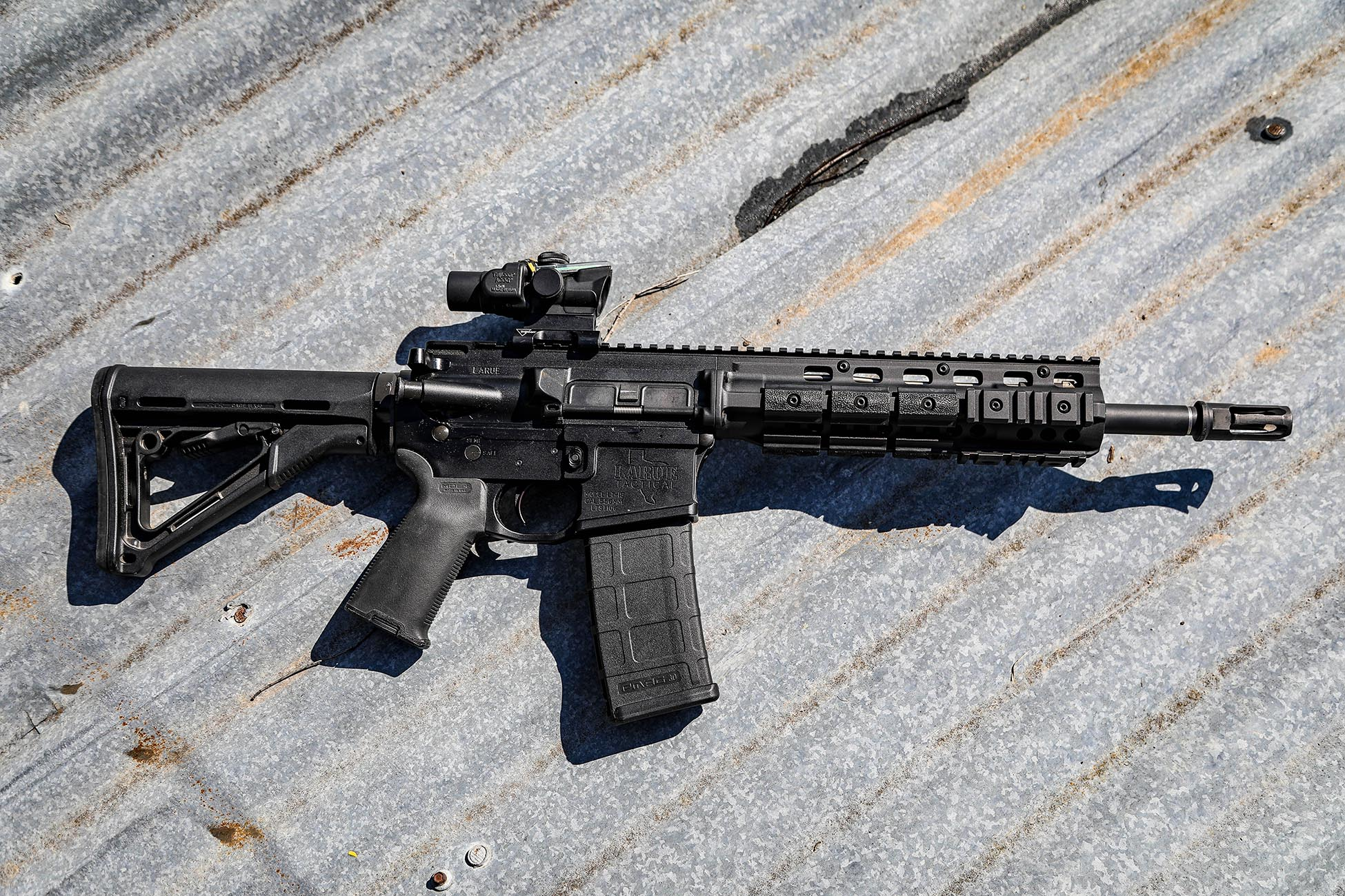 AR15 Collapsible Stock installed on a piston driven AR Carbine