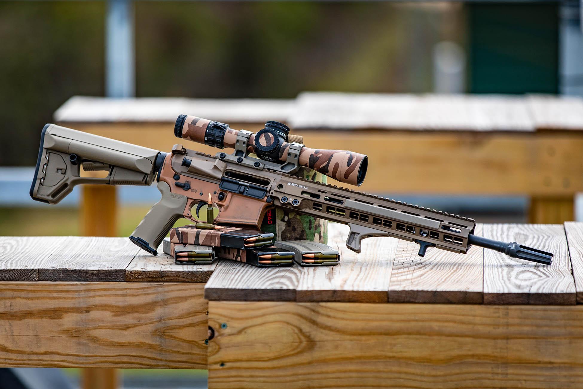 Magpul AR15 Carbine stock installed on a Geissele Automatics AR-15 Carbine for all purpose use