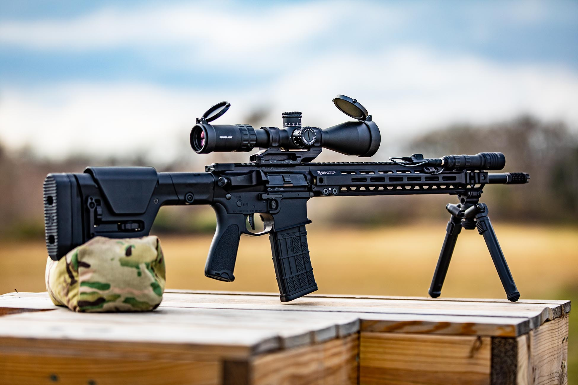Magpul PRS Rifle Stock installed on a designated marksman rifle for accurate long range shooting