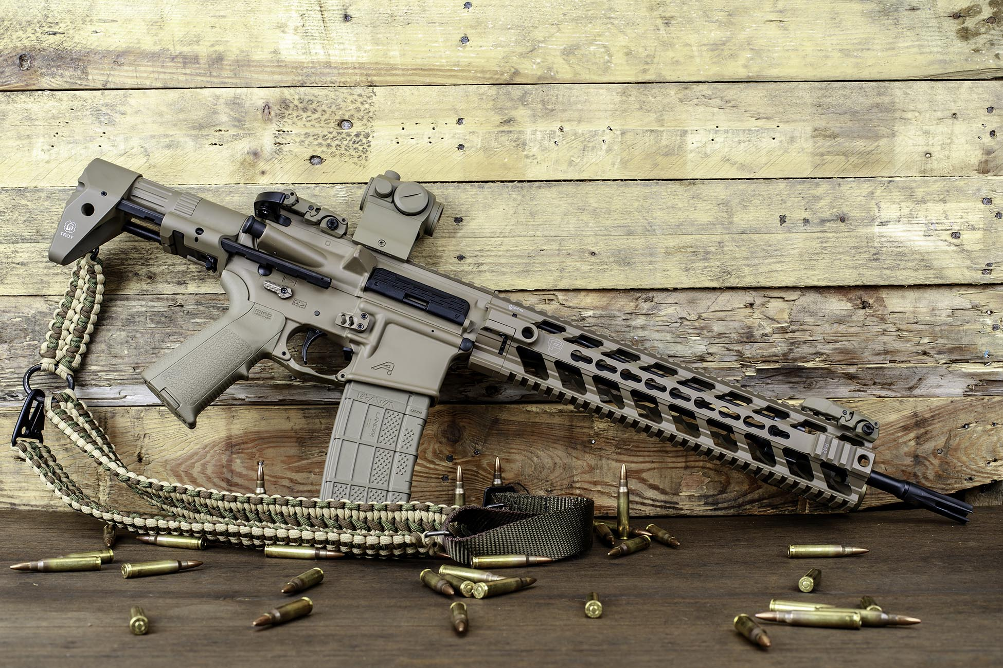 AR 15 PDW Stock installed on a lightweight and compact AR15 build for home defense use