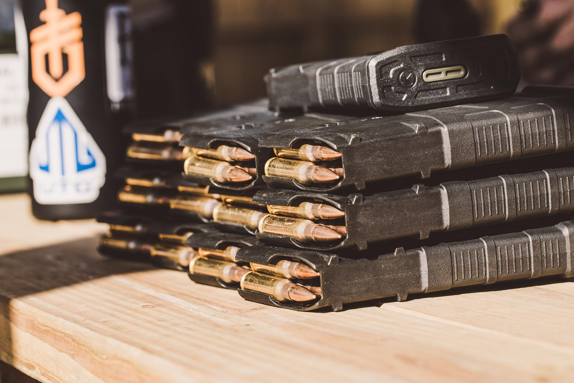 IMG Tag: Magpul PMAG 30 Round Magazines in black and fully loaded