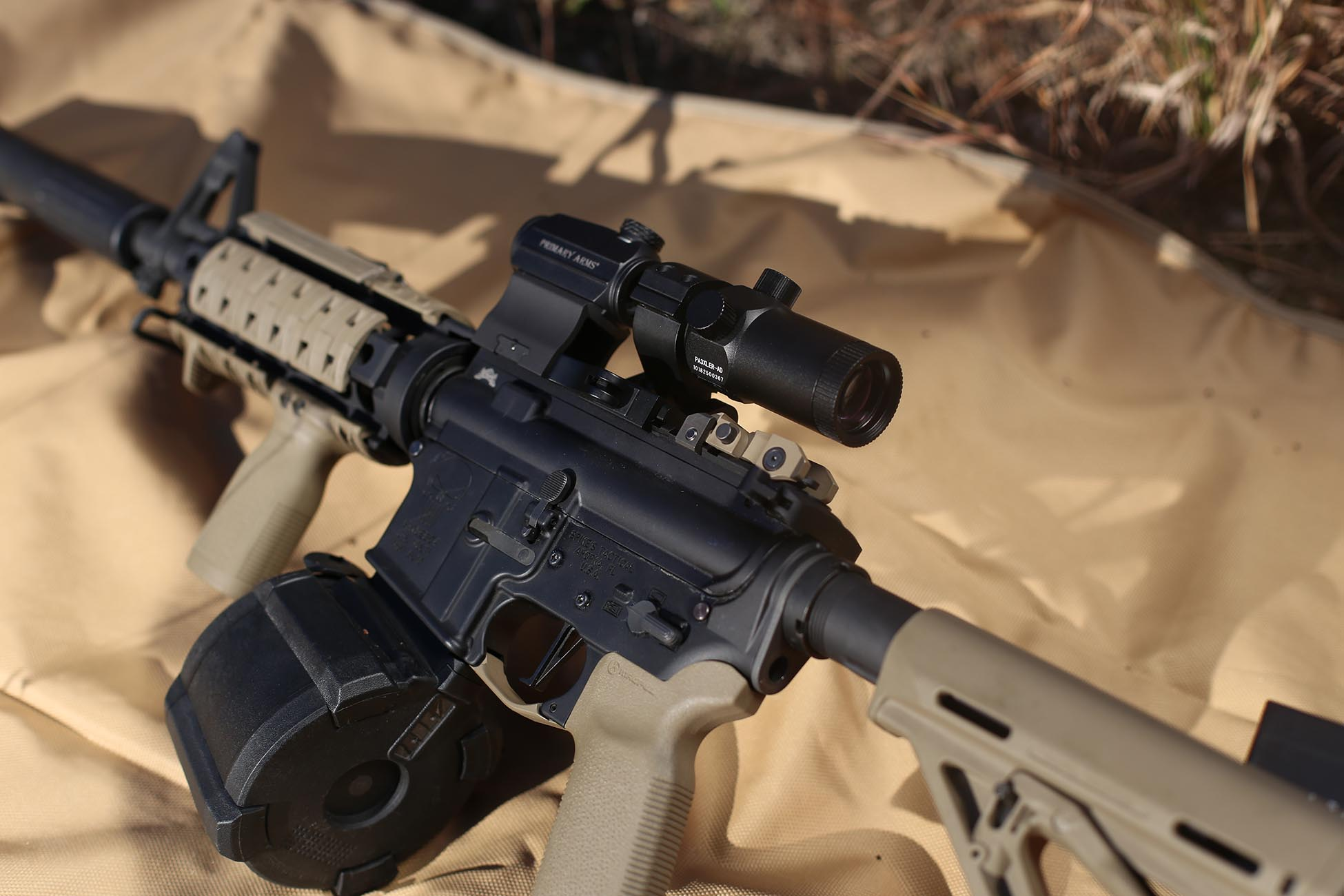Magpul D60 Drum Magazine in an AR15 rifle