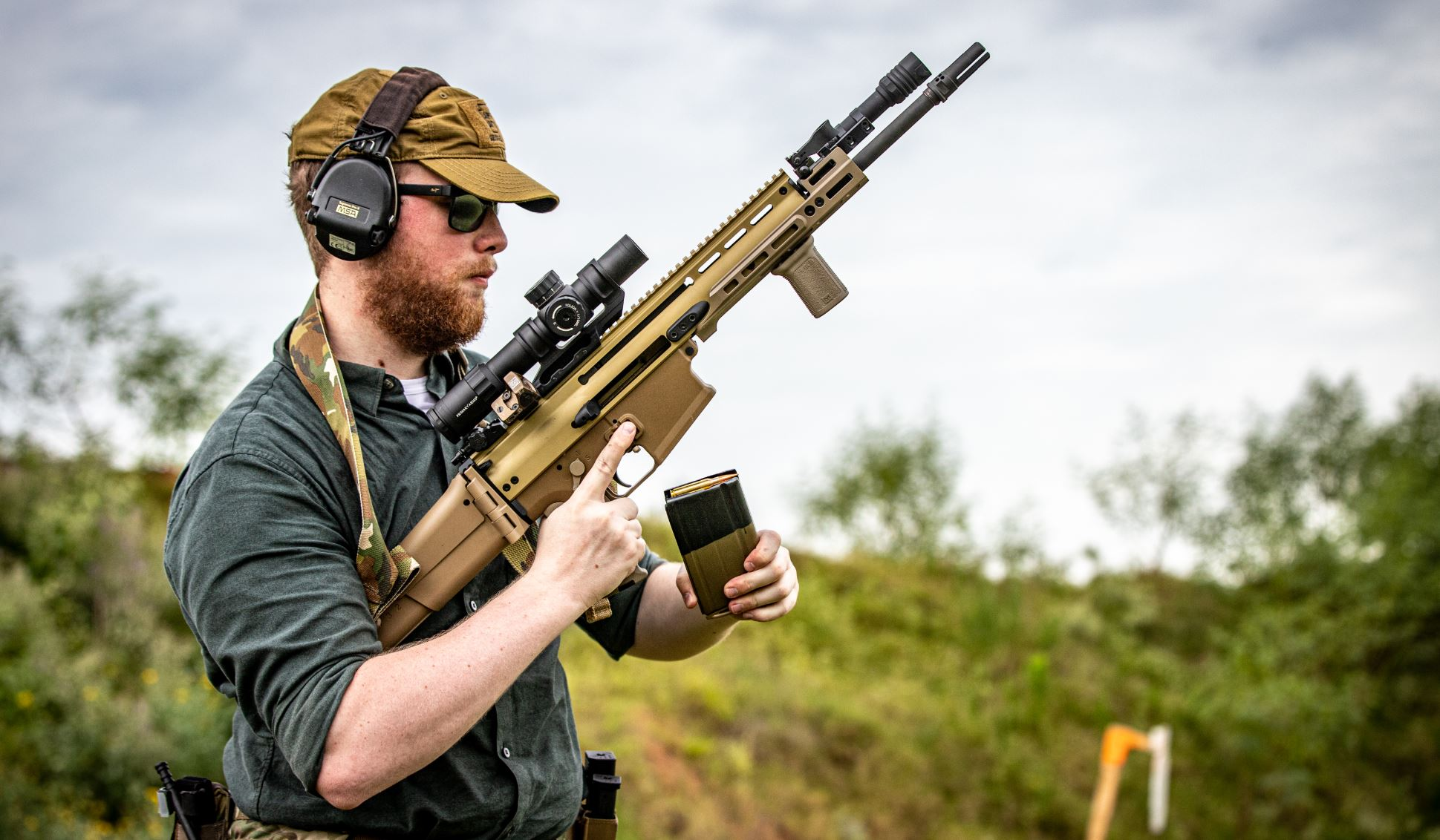 At the range.