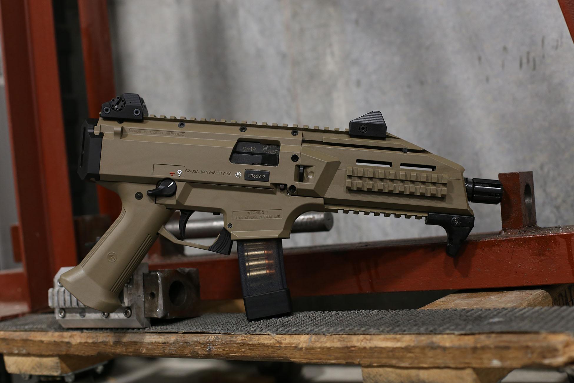 CZ Scorpion Evo S3 pistol caliber carbine Chambered in 9mm ammunition