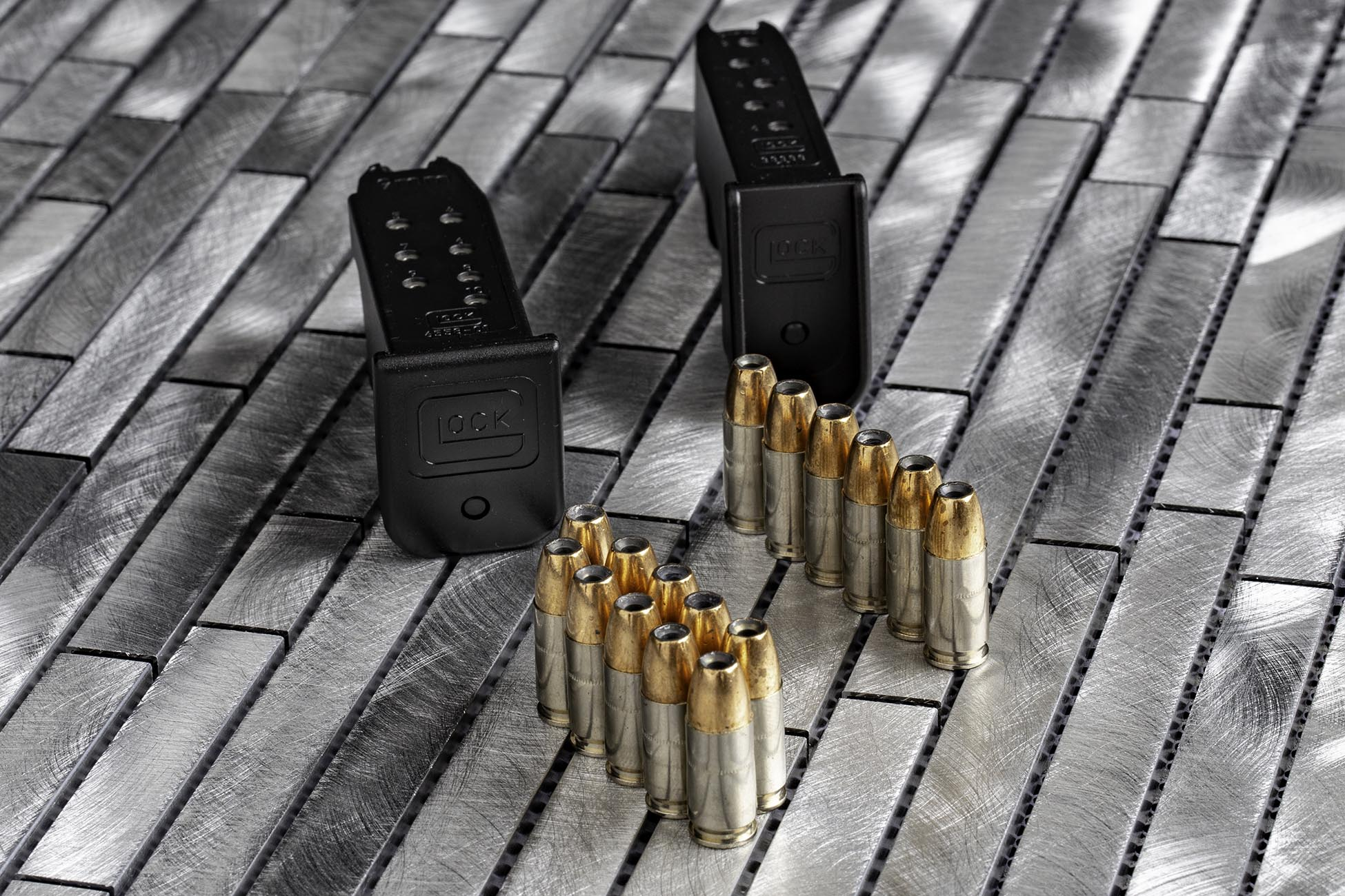 Federal Premium Ammunition 9mm HST Hollow Point with sub compact magazines