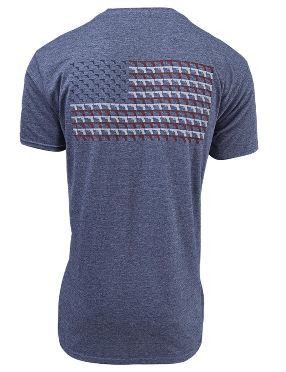 Glock Pistol Flag Short Sleeve T-shirt