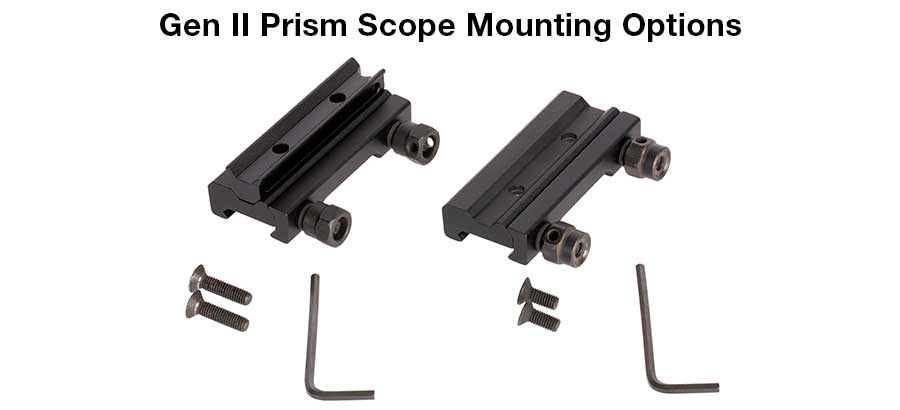 Primary Arms 3X and 5x prism scope mounting options