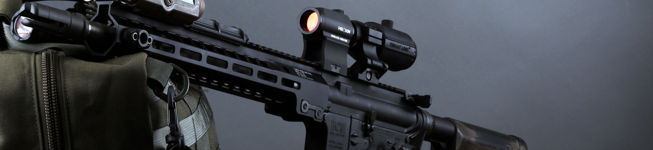 The Holosun micro red dot sight with ACSS CBQ reticle