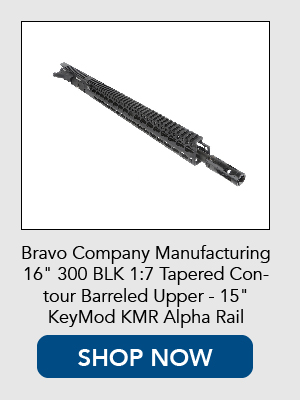 Shop now for Bravo Company Manufacturing complete 300 Blackout upper reciever with KeyMod Rail
