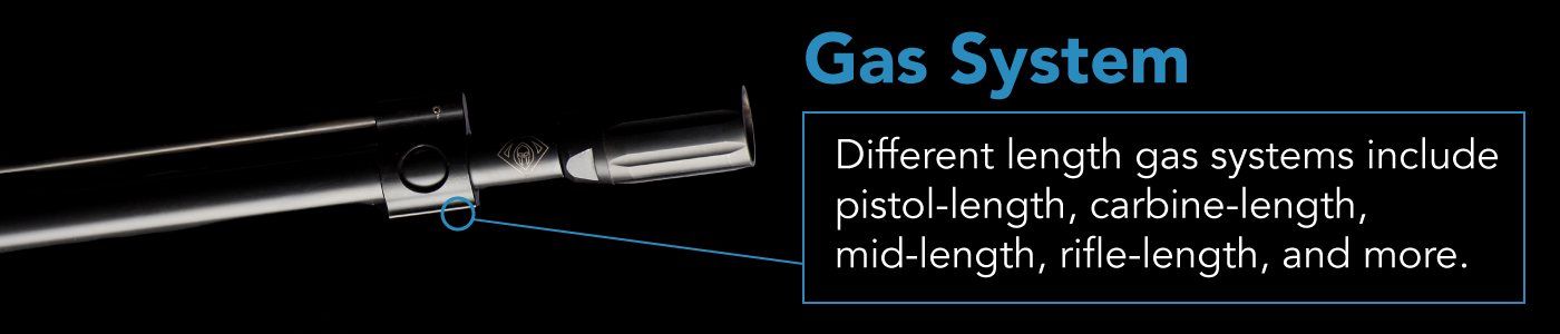 a rifle's gas system determines how hard it kicks as well as hones the rifle's timing.