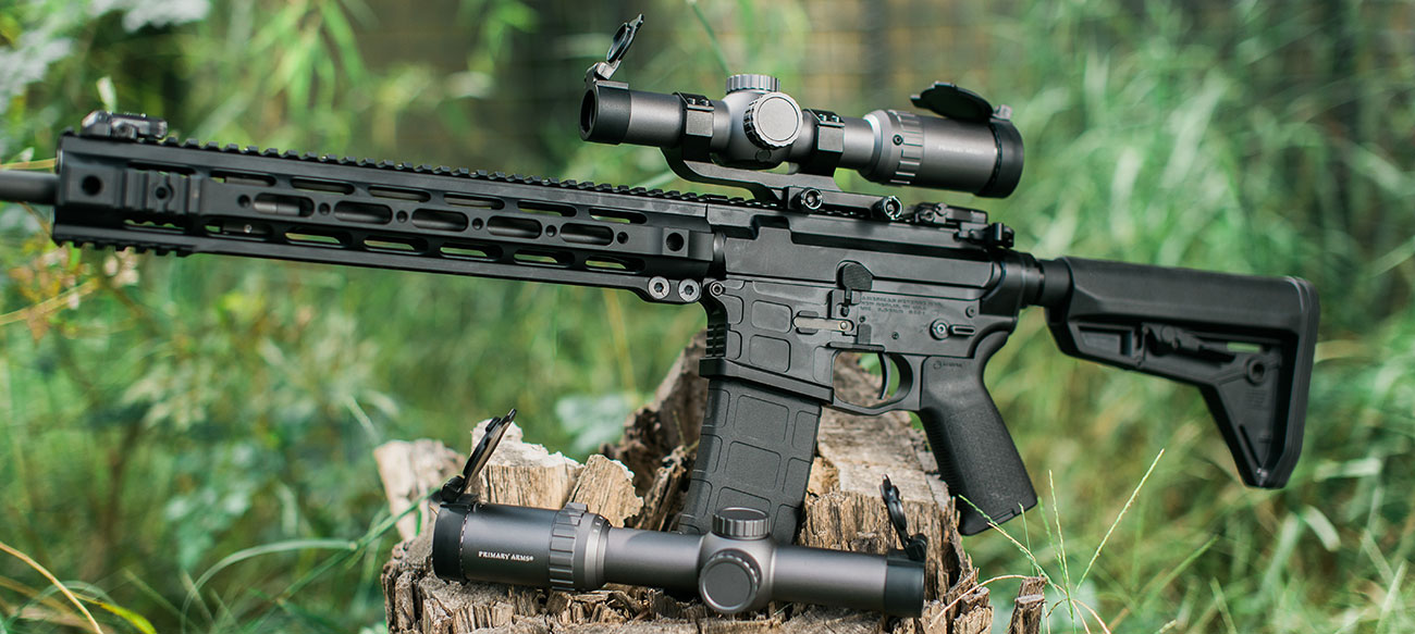 A pair of Primary Arms 1-6x SFP Scopes