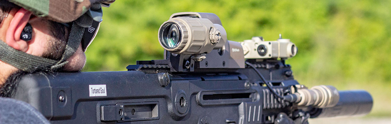 Many Red Dot Magnifier mounts flip or swing to the side