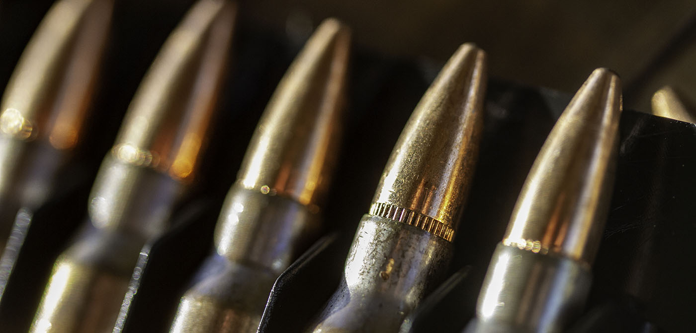 The 5.56 NATO or .223 Remington cartridge is a small, .22 caliber combat round that is lightweight and effective.