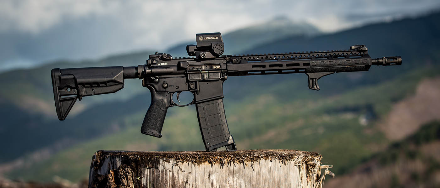 AR15 with Bravo Company Manufacturing furniture makes an appearance high in the mountains.