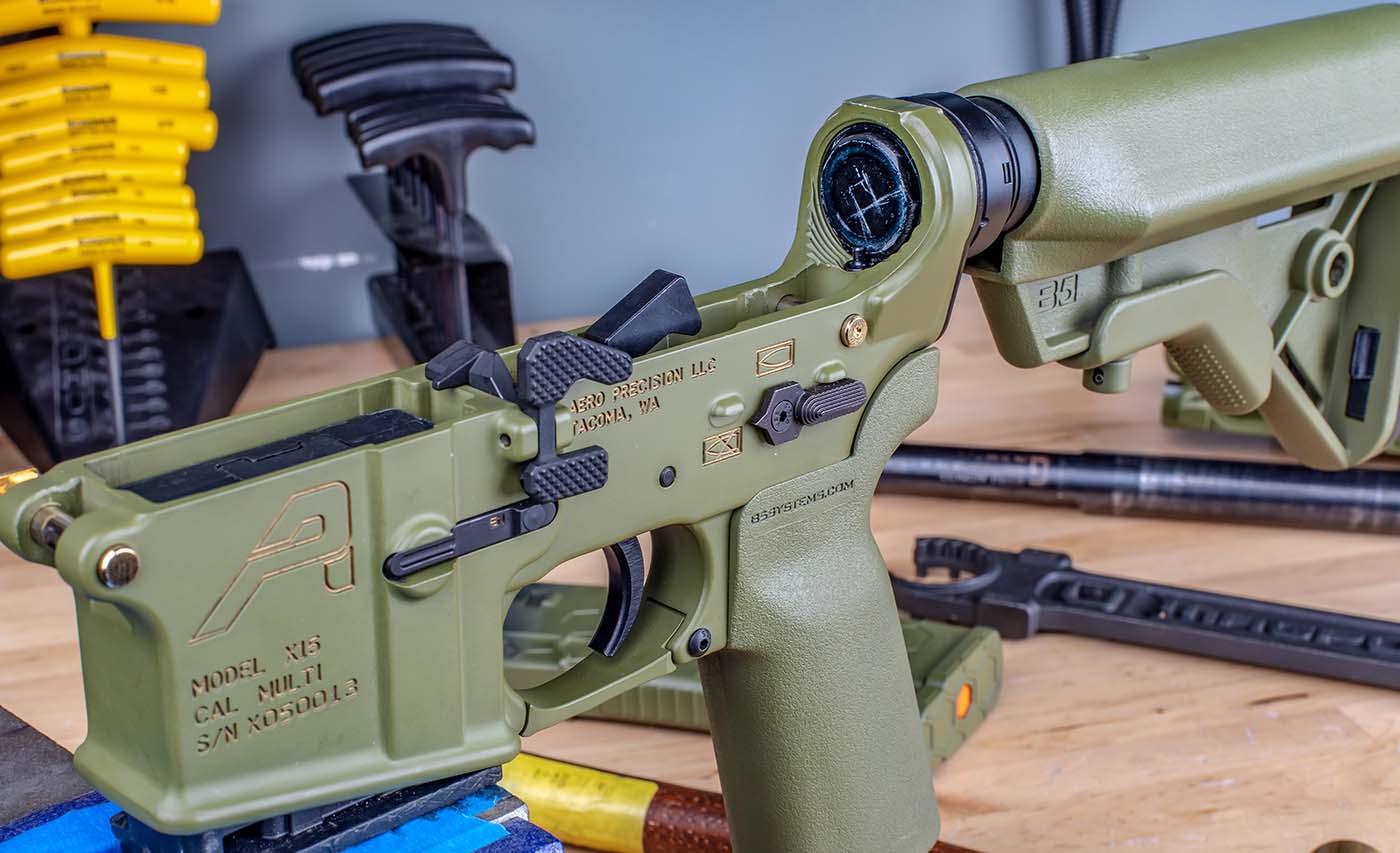 Aero Precision Lower receiver, cerekoted in Bazooka Green