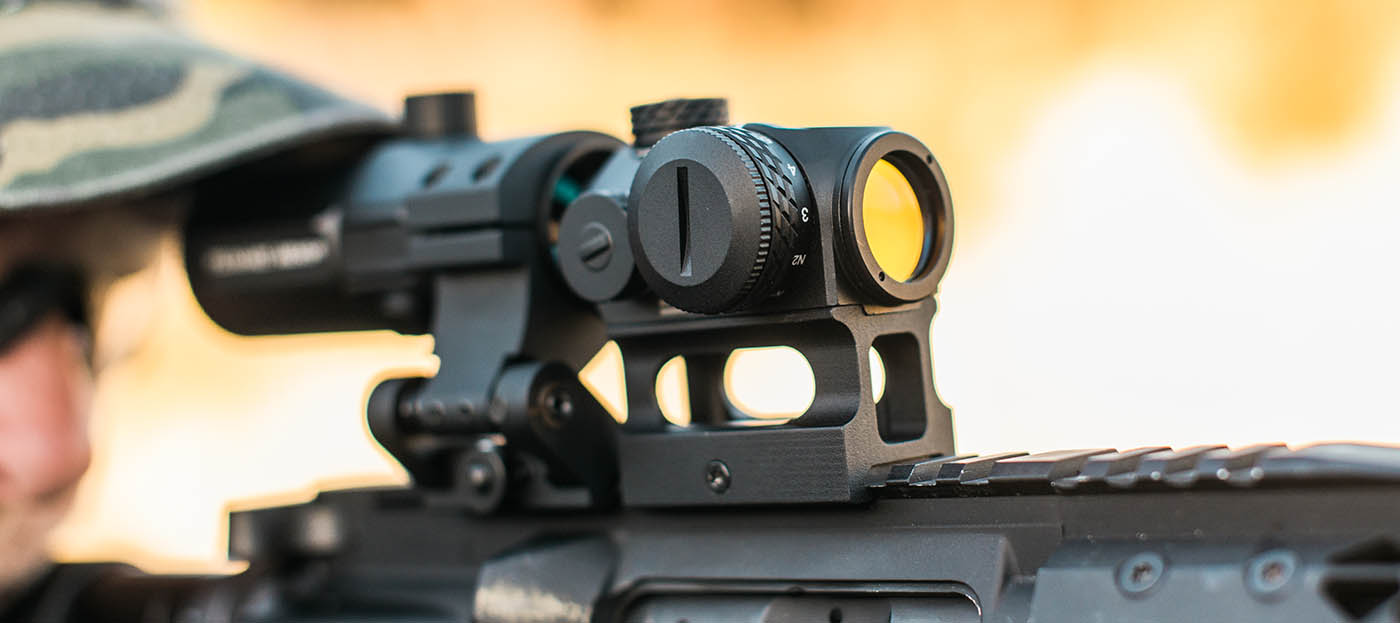 Pairing a red dot sight with a magnifier combo is a great way to extend your range and flexibility.
