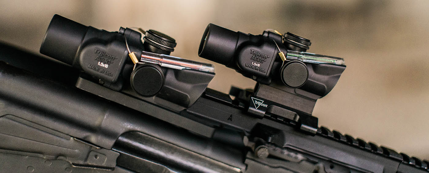The Trijicon TA44 with ACSS reticle can be mounted on AR15s as well as AK47s.