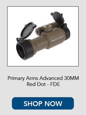 Primary Arms Advanced 30mm Red Dot Sight in FDE.