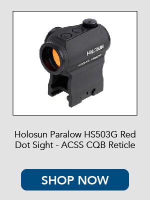 Holosun HS503G Red Dot Sight with ACSS Reticle.