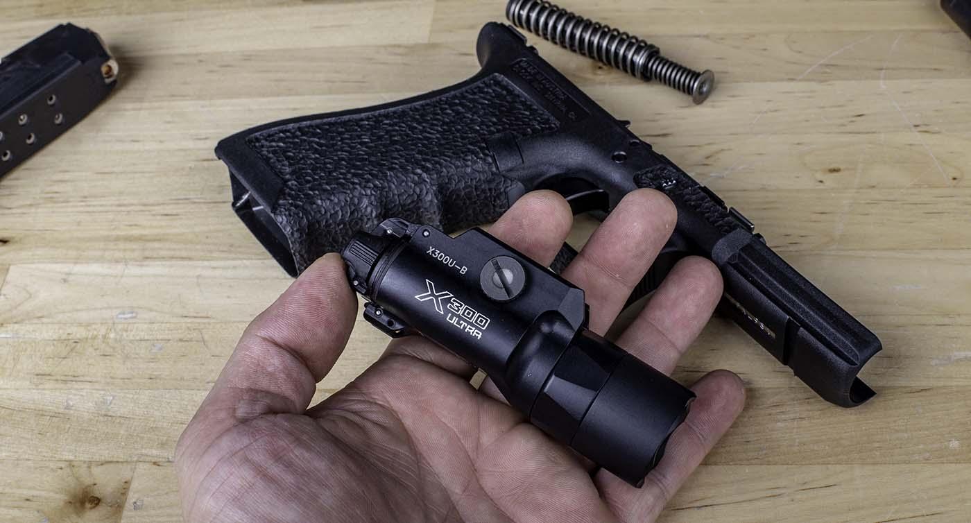 Surefire X300 Ultra 1000 lumen pistol light.