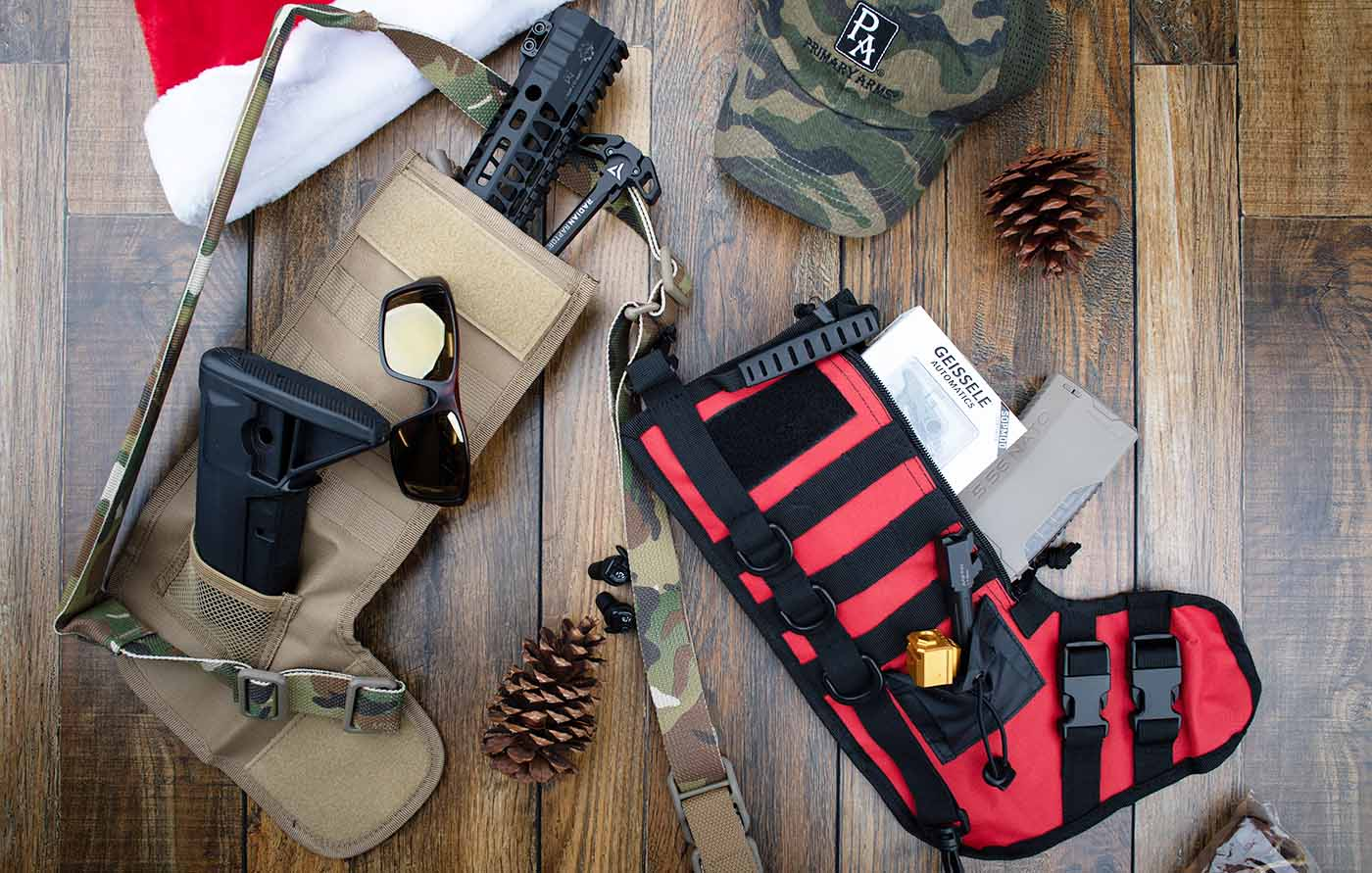 NcSTAR Tactical stockings add some tactical flair to your holiday.