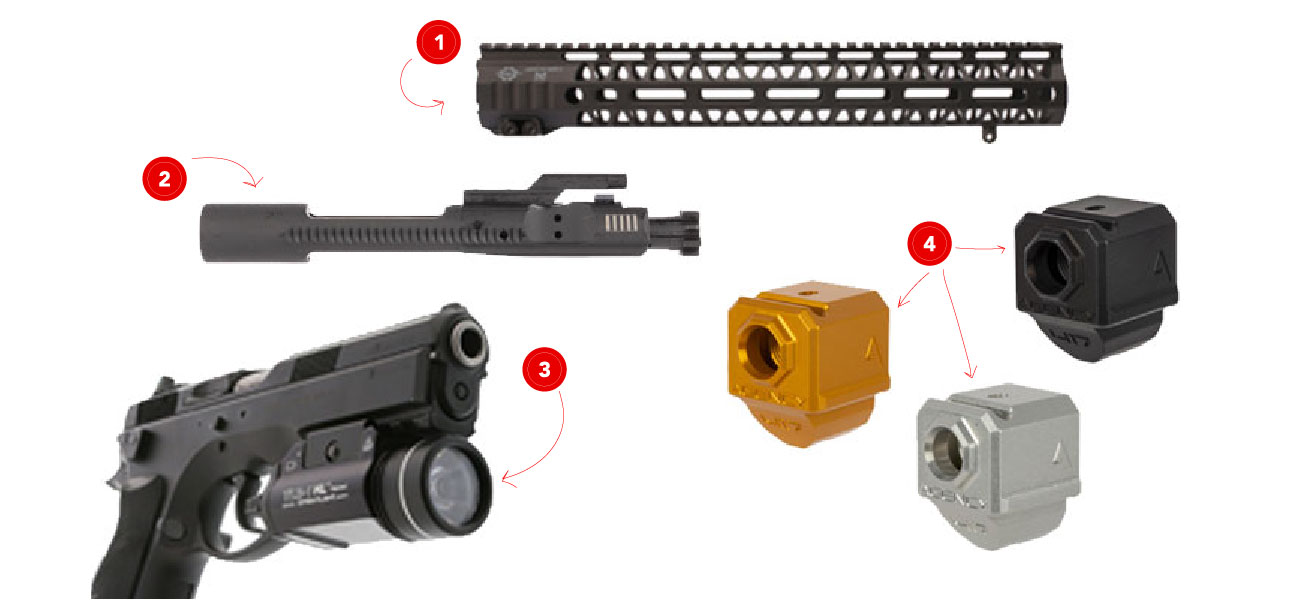 Check out these awesome gift ideas for can't-miss Christmas gifts, like the Agency Arms Glock Compensator.