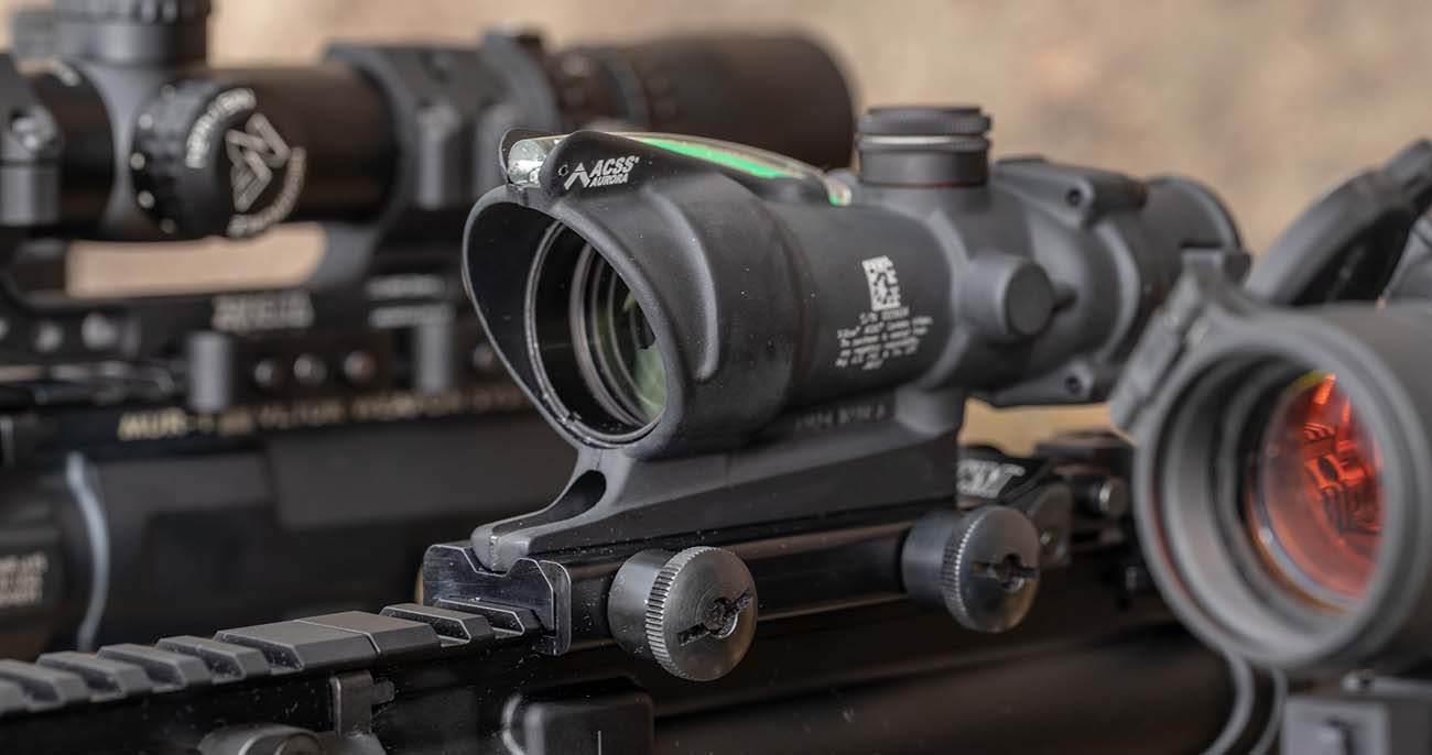 The ACOG with ACSS Aroura reticle the ideal addition to any rifle built for home defense or three gun shooting.