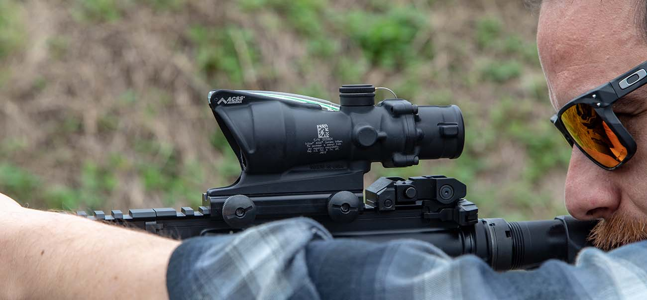 Here is the ACOG with ACSS Aurora reticle being run on the range, on a BCM AR-15 rifle.