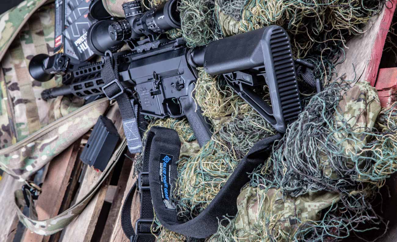 The Vickers Blue Force Gear padded sling is hard-core and will never let you down when carrying your rifle over long distances