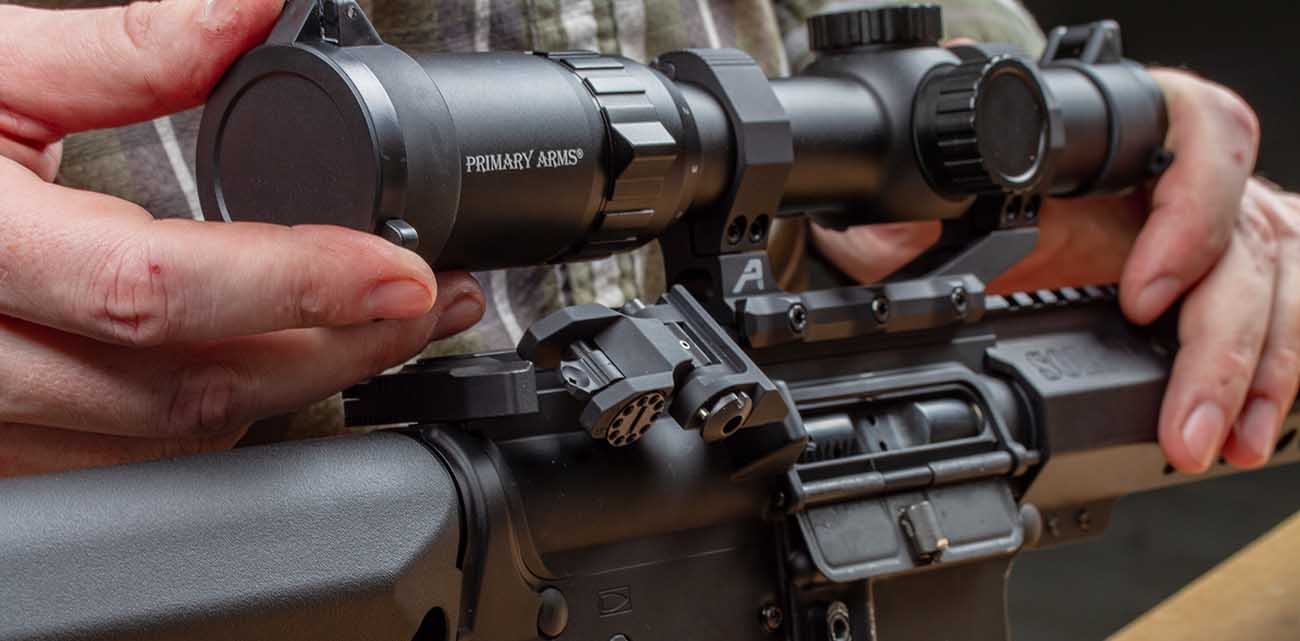 the 1-6x scope first focal plane from primary arms with ACSS raptor reticle is the perfect choice for 3 Gun.