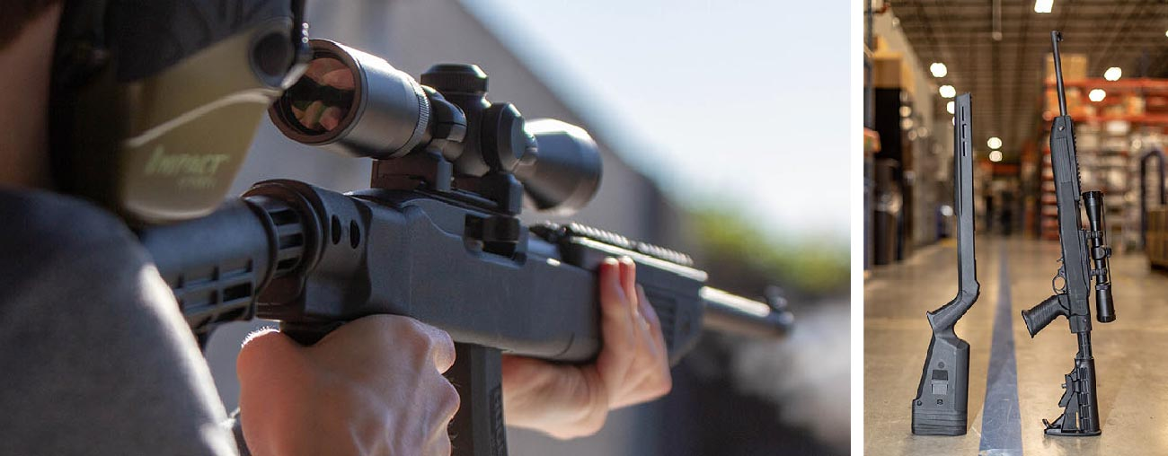 The Magpul Hunter-X Ruger 10/22 Chassis is an excellent platform for your 22 rifle.