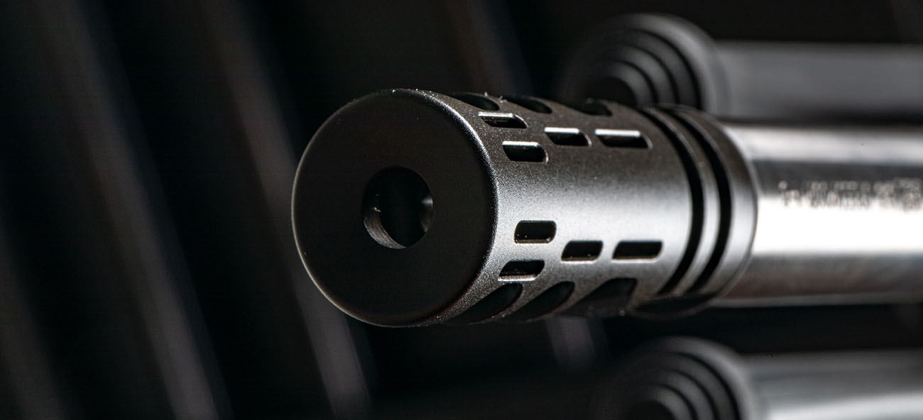 closeup of VG6 Gamma muzzle brake