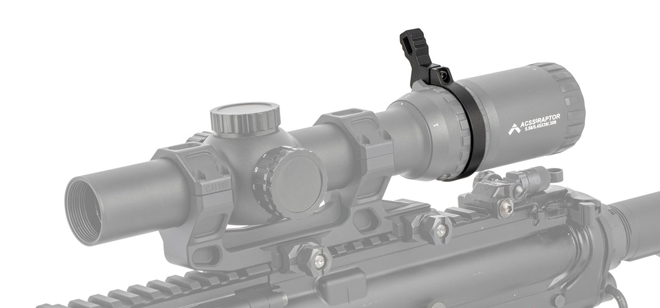 The new Primary arms Mag-Tight throw lever for LPVO Magnification rings.