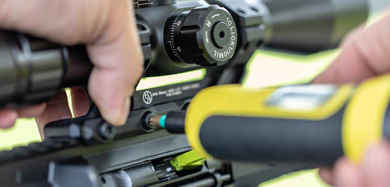 The Wheeler fat wrench allows you to tighten your scope's crossbolts to the appropriate tension.