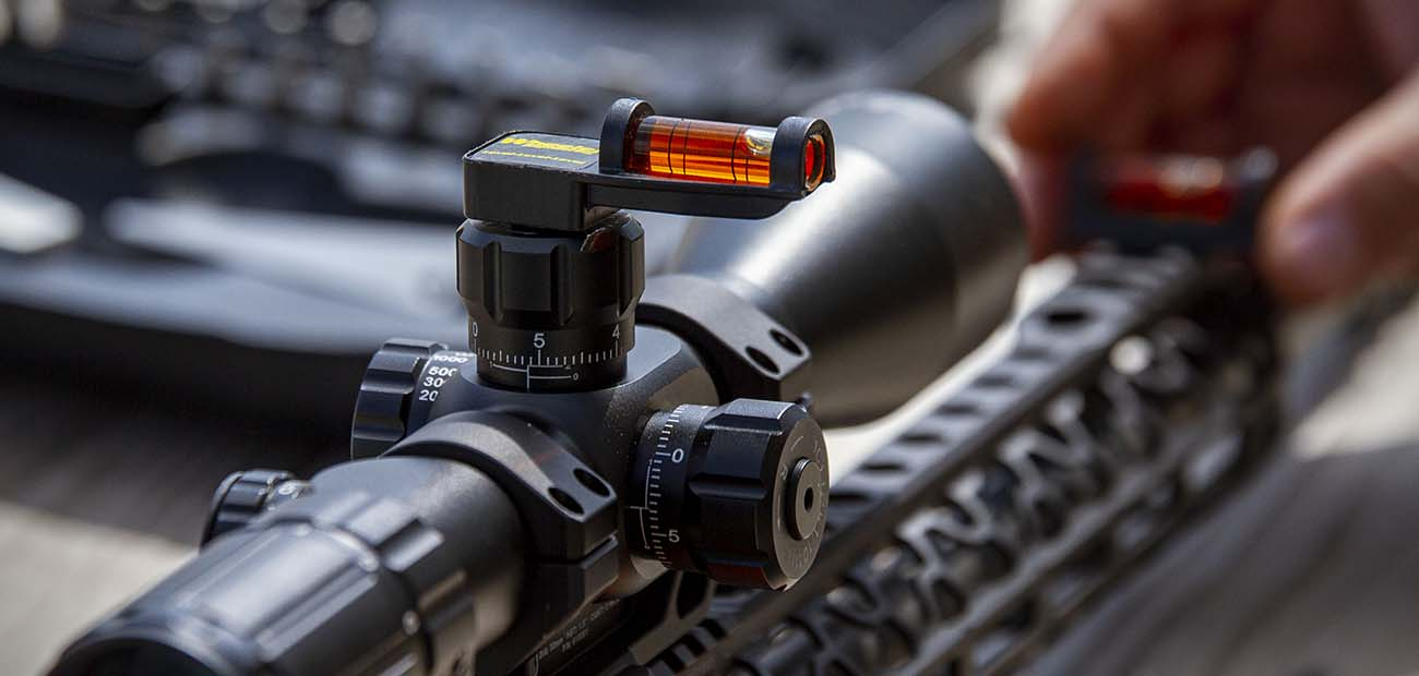 Using a bubble level to make sure your scope is properly aligned in your scope mount is a necessary step.